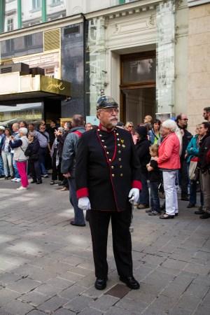 Chef d'orchestre de la fanfare militaire.