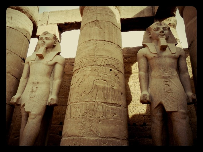 statues, egypt, luxor, luxor temple, motorcycle egypt, luxor temple, egypt, wanderlust, dagsvstheworld, rtw trip, luxor, nile