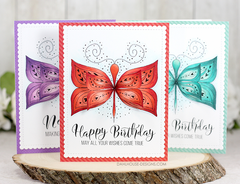 Butterfly Birthday Card with Dimension