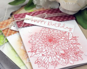 Sharing a card idea for easy masking and ink blending with a tutorial and quick video. Technique using blending brushes. The images are from the There is No Reason Unity Stamp Company stamp set. More inspiration on dahlhouse-designs.com.   #cardmaking #cardmaker #cardmakingideas #cards #stamping #dahlhousedesigns #unitystampco #ideas #diy #howto #tutorial #video #handmadecards #diecutting #mask #masking #ginak #blending #birthday