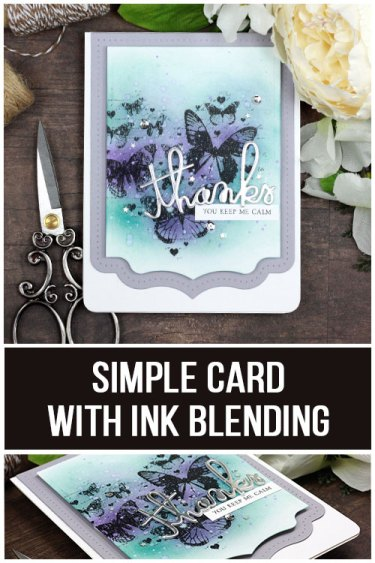 Sharing a simple card idea for layering die cuts to feature your stamped images. The images are from the Trust it Will be Okay Unity Stamp Company stamp set. More inspiration on dahlhouse-designs.com. #cardmaking #cardmaker #cardmakingideas #cardinspiration #cards #stamping #dahlhousedesigns #unitystampco #rangerink #distressink #thankyoucard #handmadecards #diecutting #diy #carddesign #cardcraft
