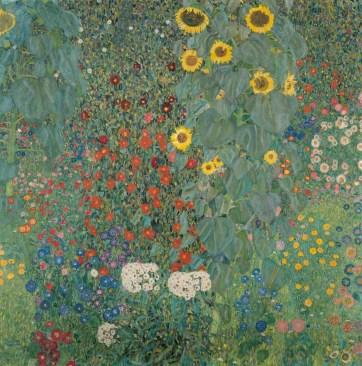 Los girasoles, Klimt. Fuente: Belvedere Museum Vienna