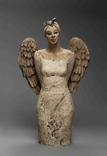 Ingun Dahlin byste hvit engel