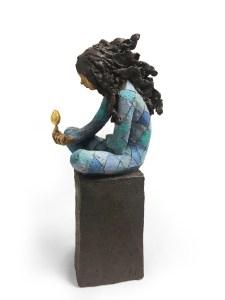 Gullegget Ingun Dahlin skulptur keramikk