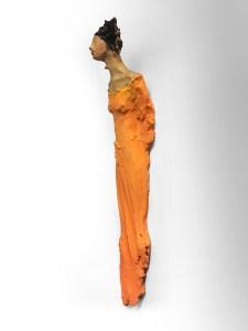 perleregn veggdame Ingun Dahlin keramikk skulptur