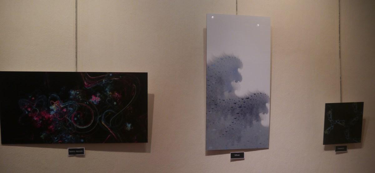 Photo des tableaux dans la salle d'exposition