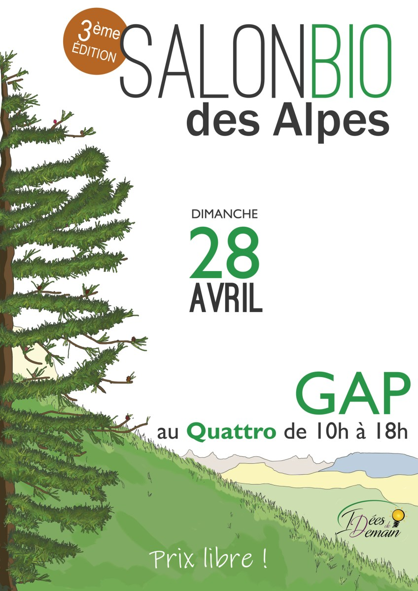 Flyer du salon bio 2019, quattro à Gap