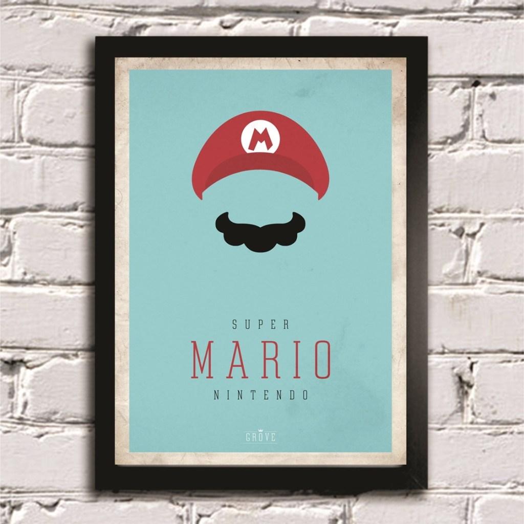 quadro-mario-bross-video-game