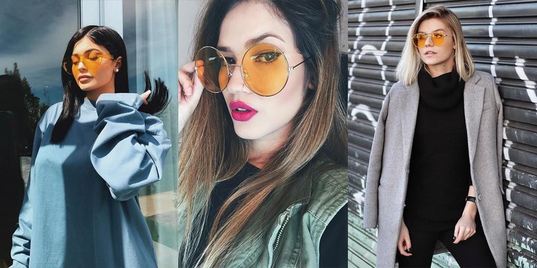 536723f22e2d9 O óculos transparente colorido vira febre entre as fashionistas ...
