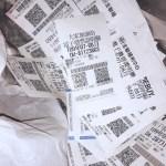 A close up of a receipt