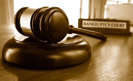 Bankruptcy court gavel