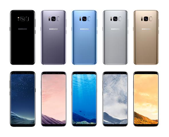 galaxys8のカラーバリエーション