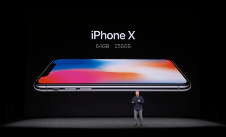 iphone-xの容量は64gbと256gb
