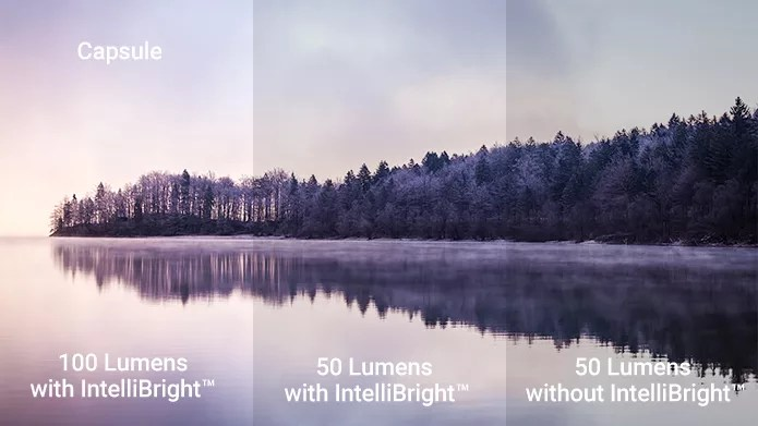 DLP®Digital Light Processingにより、明るくそして鮮明に映るcapsule
