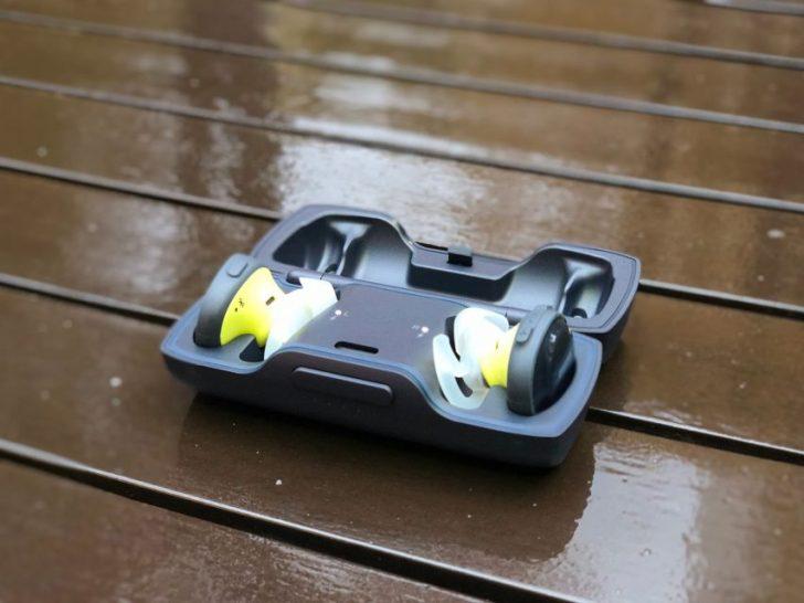 Bose SoundSport Free wireless headphones 完全ワイヤレスイヤホン ミッドナイトブルー/イエローシトロン本体とケース