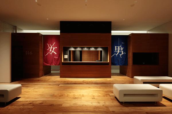 露天風呂ありの東京のオシャレ銭湯天然温泉久松湯のエントランス