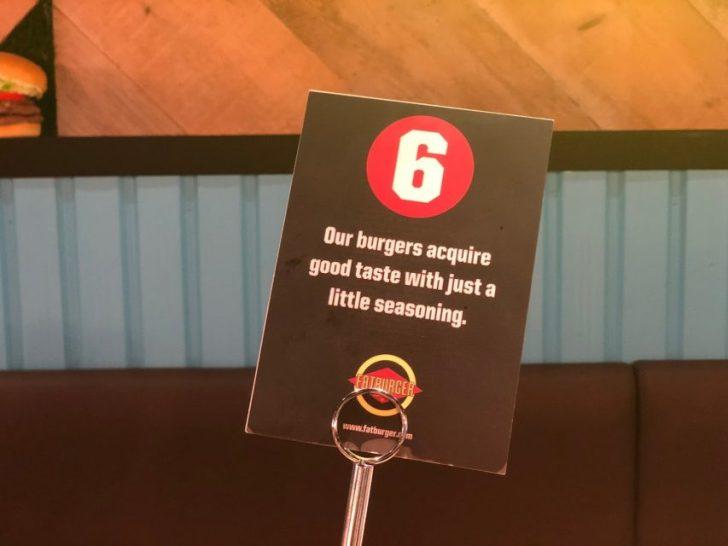 magnet渋谷の7階mag7にあるfatburgerの番号札