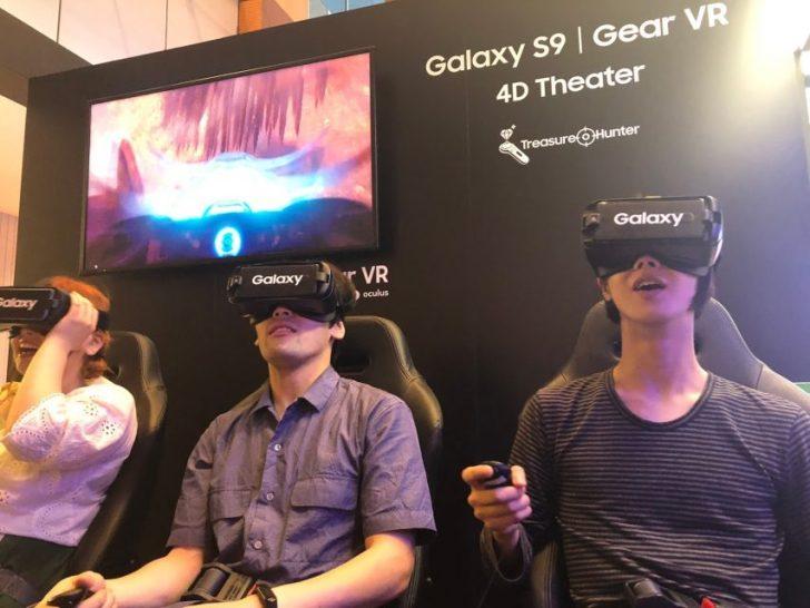 ミッドタウン六本木のgalaxy_studioで無料でトレジャーハンター4DVRのOculus本体で体験中