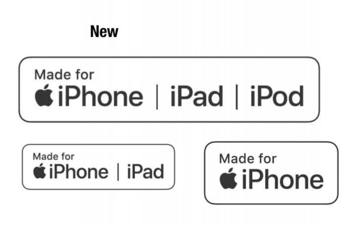 appleのmfi認証のロゴ3つ