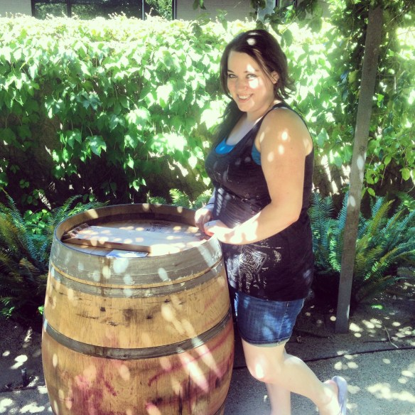 Exploring the grounds at the winery