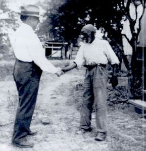WPA Interviewer with former slave