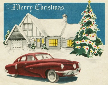 Tucker Corporation Christmas Card, 1947 by Alden Jewell.