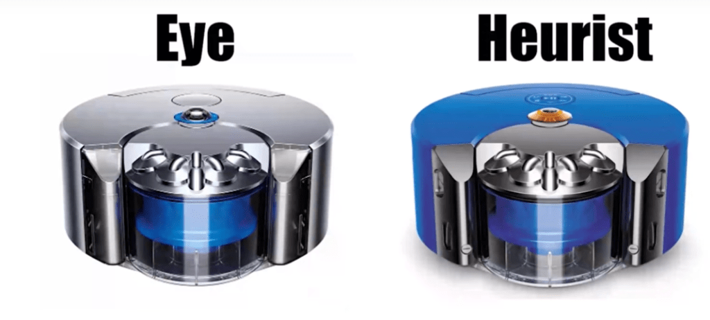 compare between dyson 360 eye and dyson 360 heurist