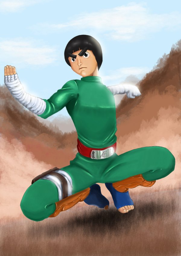 Rock Lee Team Guy Daily Anime Art