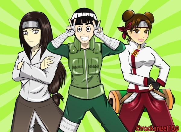 Team Guy Guy Neji Rock Lee and Tenten Daily Anime Art
