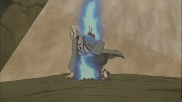 Tsunade spear through body