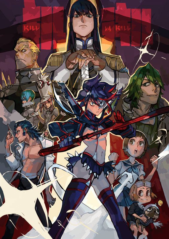 kill la kill anime poster by chisuukei