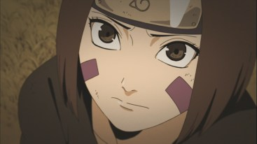Rin looks at Obito