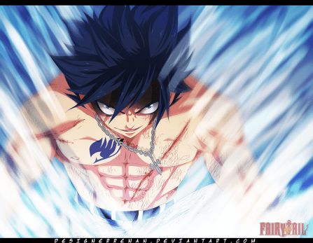 Fairy Tail 391 Gray powering up by designerrenan