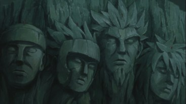 Hokage's on top of Statue