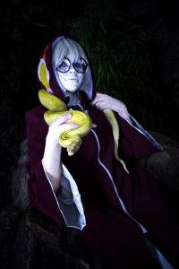 Kabuto Yakushi cosplay snake by Shipou-Negiru