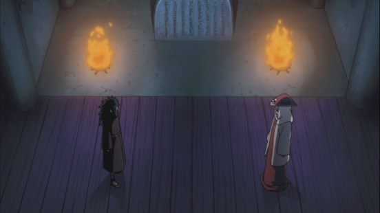 Madara and Hashirama at Uchiha Wall