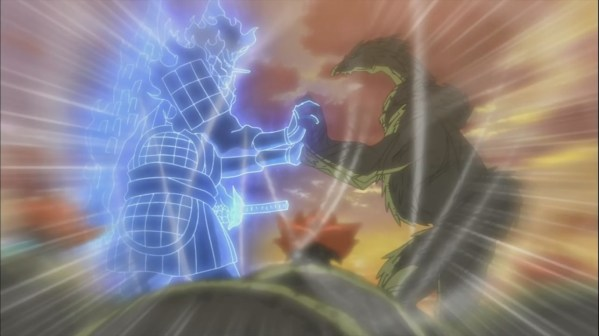 Madara's Susanoo and Hashirama's Wood