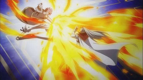 Natsu attacks Future Rogue
