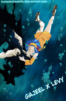 Fairy Tail 396 Gajeel and Levy by IchigoVizard96
