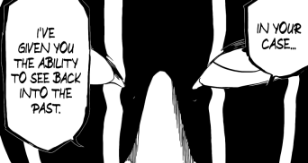 Mayuri gave Toshiro ability to see his past