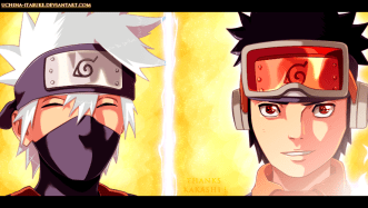 Naruto 691 Kakashi and Obito by Uchiha-itasuke