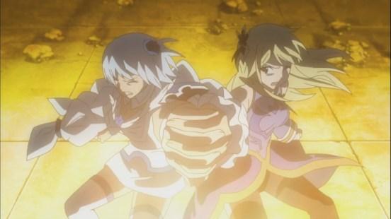 Yukine and Lucy use Zodiac Keys to destroy Eclipse Gate