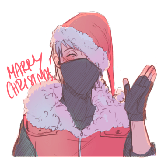 Kakashi Christmas by chaoticrabbit