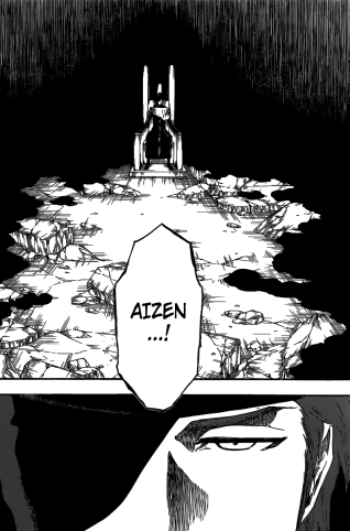 Aizen arrives infront of all