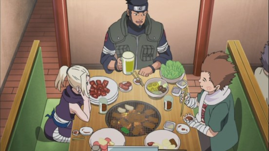 Choji and Ino eat