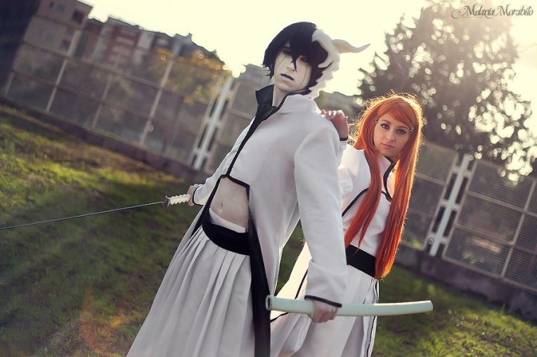 Bleach Ulquiorra Orihime Cosplay by Asteria91