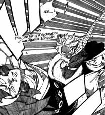 Natsu punches Azir