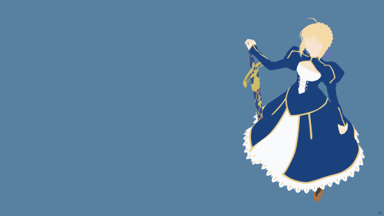 Saber Fate Stay Night Minimalist Wallpaper by greenmapple17