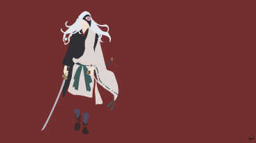 Rabou Noragami Minimalist Wallpaper by greenmapple17