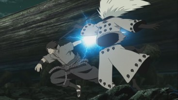 Sasuke cuts Madara